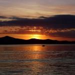 Coucher de soleil à Zadar