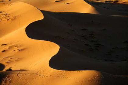Lever soleil dans le Sahara
