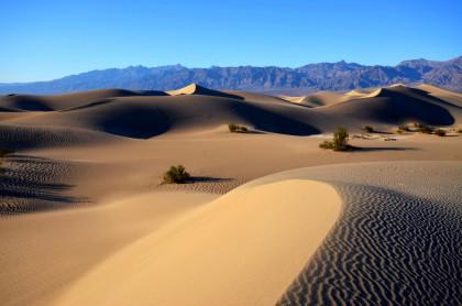 Dunes dans la vallée de la mort