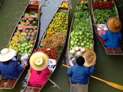 Taling Chan marché flottant de Bangkok