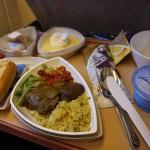 Repas à bord de l'avion
