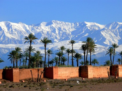 L'Atlas vu depuis Marrakech