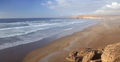 Plage du sud du Maroc