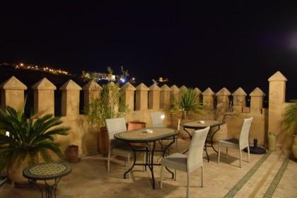 Terrasse du riad Adarissa à Fès