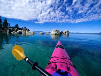Kayak en voyage