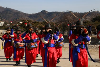 Relève de la garde au palais de Gyeongbokgung